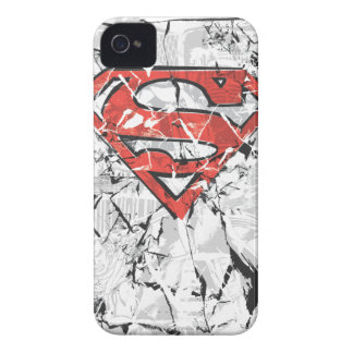 Superman Stylized | Crumpled Comic Logo iPhone 4 Case-Mate Case
