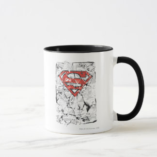 Superman Stylized | Crumpled Comic Logo Mug