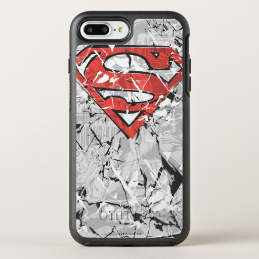 Superman Stylized | Crumpled Comic Logo OtterBox Symmetry iPhone 8 Plus/7 Plus Case