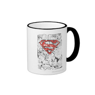 Superman Stylized | Crumpled Comic Logo Ringer Mug