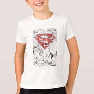 Superman Stylized | Crumpled Comic Logo T-Shirt