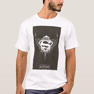 Superman Stylized | Dark Brown Background Logo T-Shirt