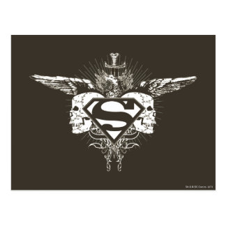 Superman Stylized | Dark Skulls Logo Postcard