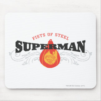 Superman Stylized   Fists of Steel Logo Mouse Pad