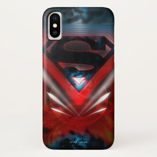 Superman Stylized | Futuristic Logo iPhone X Case
