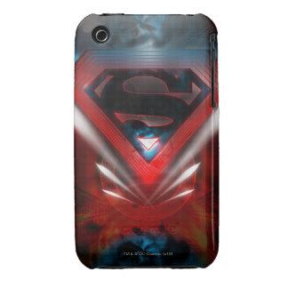 Superman Stylized   Futuristic Logo iPhone 3 Case