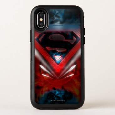 Superman Stylized | Futuristic Logo OtterBox Symmetry iPhone X Case