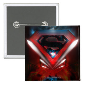 Superman Stylized | Futuristic Logo Pinback Button