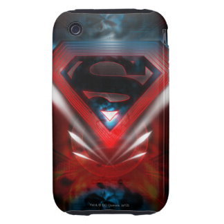 Superman Stylized   Futuristic Logo Tough iPhone 3 Case