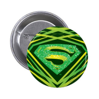 Superman Stylized | Green Decorative Logo Button