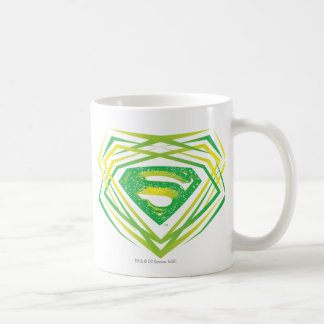 Superman Stylized | Green Decorative Logo Coffee Mug