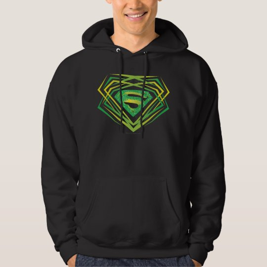 Superman Stylized | Green Decorative Logo Hoodie