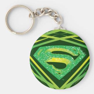 Superman Stylized   Green Decorative Logo Keychain