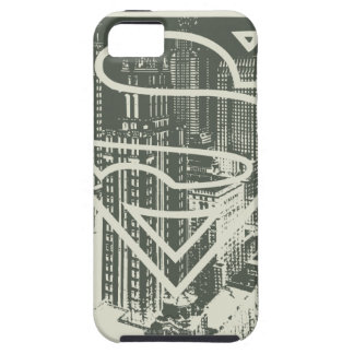 Superman Stylized | Green Metropolis Logo iPhone SE/5/5s Case