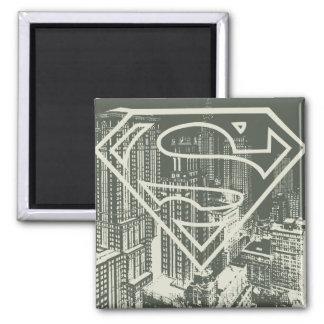 Superman Stylized | Green Metropolis Logo Magnet