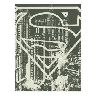 Superman Stylized | Green Metropolis Logo Postcard