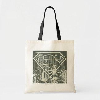 Superman Stylized   Green Metropolis Logo Tote Bag