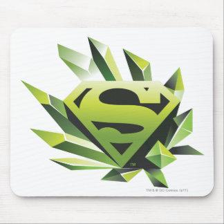 Superman Stylized | Green Shield Logo Mouse Pad