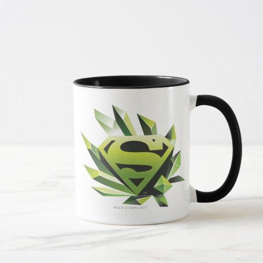 Superman Stylized   Green Shield Logo Mug