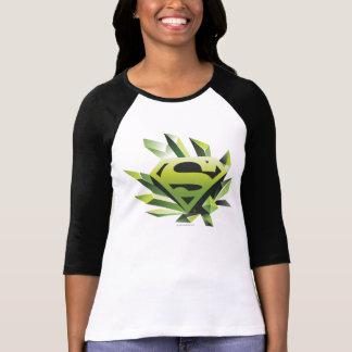 Superman Stylized   Green Shield Logo T-Shirt