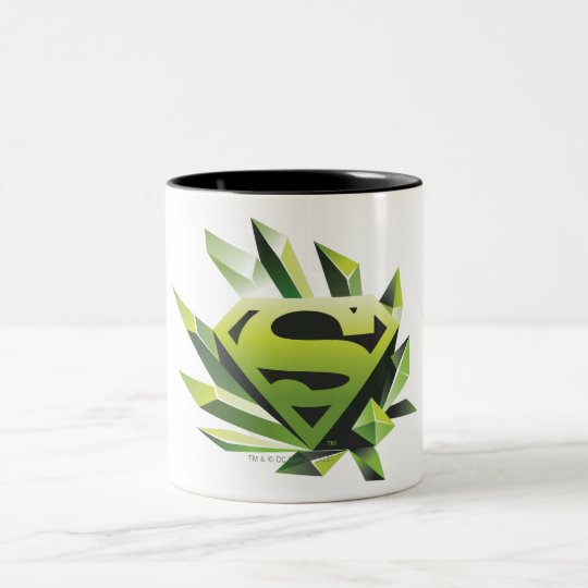Superman Stylized | Green Shield Logo Two-Tone Coffee Mug