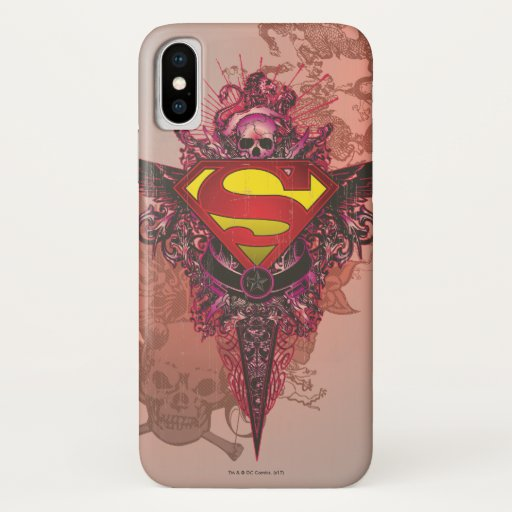Superman Stylized | Grunge Design Logo iPhone X Case