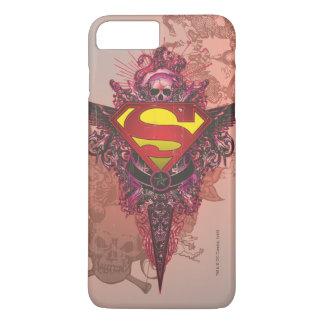 Superman Stylized | Grunge Design Logo iPhone 7 Plus Case