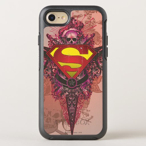 Superman Stylized | Grunge Design Logo OtterBox Symmetry iPhone 8/7 Case