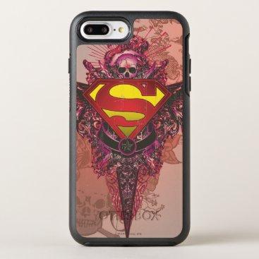 Superman Stylized | Grunge Design Logo OtterBox Symmetry iPhone 8 Plus/7 Plus Case