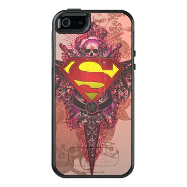 Superman Stylized | Grunge Design Logo OtterBox iPhone 5/5s/SE Case