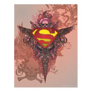Superman Stylized | Grunge Design Logo Postcard