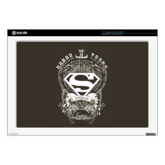 "Superman Stylized | Honor, Truth and Justice Logo 17"" Laptop Skin"