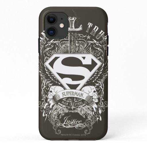 Superman Stylized | Honor, Truth and Justice Logo iPhone 11 Case