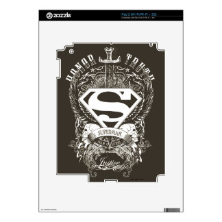 Superman Stylized | Honor, Truth and Justice Logo iPad 2 Skin