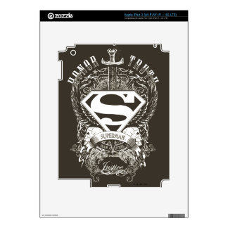 Superman Stylized | Honor, Truth and Justice Logo iPad 3 Decal