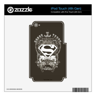 Superman Stylized | Honor, Truth and Justice Logo iPod Touch 4G Decals