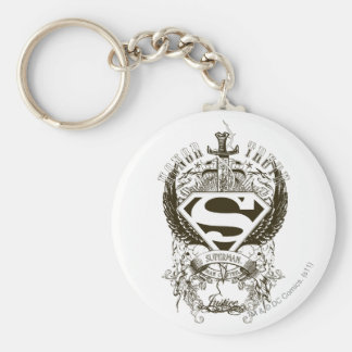 Superman Stylized   Honor, Truth and Justice Logo Keychain