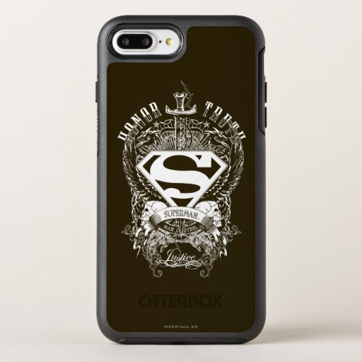 Superman Stylized | Honor, Truth and Justice Logo OtterBox Symmetry iPhone 8 Plus/7 Plus Case