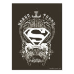 Superman Stylized | Honor, Truth and Justice Logo Postcard