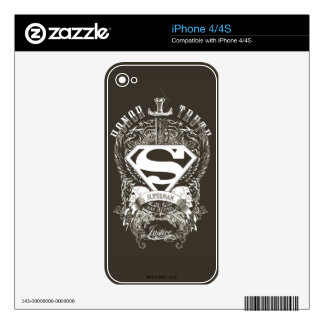 Superman Stylized | Honor, Truth and Justice Logo Skins For The iPhone 4S