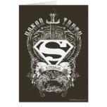 Superman Stylized | Honor, Truth on White Logo Card