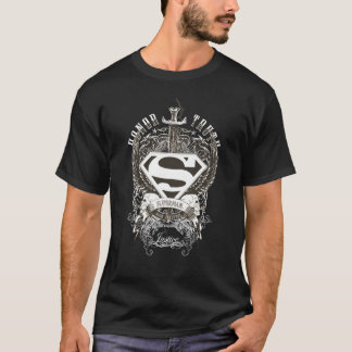 Superman Stylized | Honor, Truth on White Logo T-Shirt