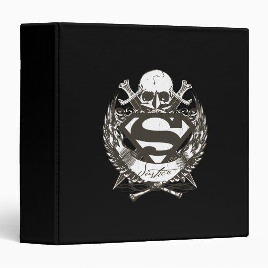Superman Stylized | Justice Logo 3 Ring Binder