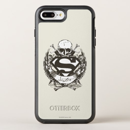 Superman Stylized | Justice Logo OtterBox Symmetry iPhone 8 Plus/7 Plus Case