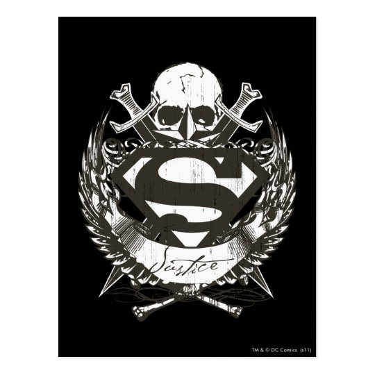 Superman Stylized | Justice Logo Postcard