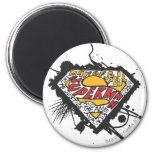 Superman Stylized | Logo with letters Logo 2 Inch Round Magnet
