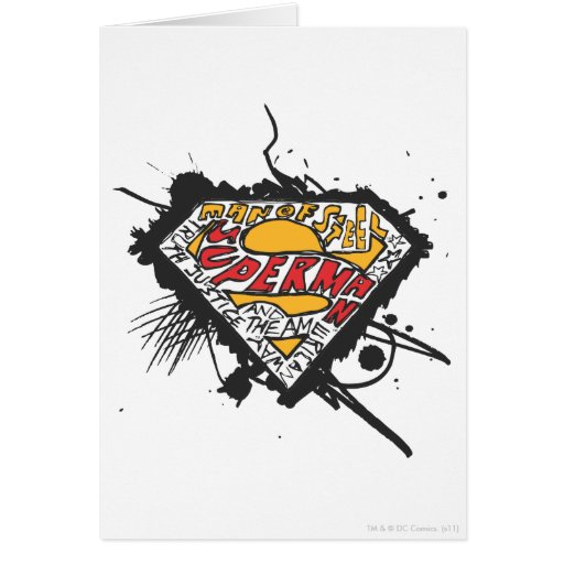 Superman Stylized | Logo with letters Logo Card