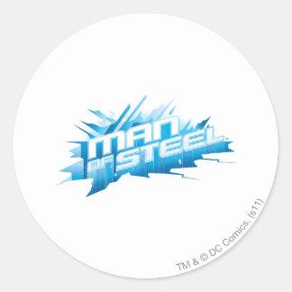 Superman Stylized | Man of Steel - Ice Logo Classic Round Sticker