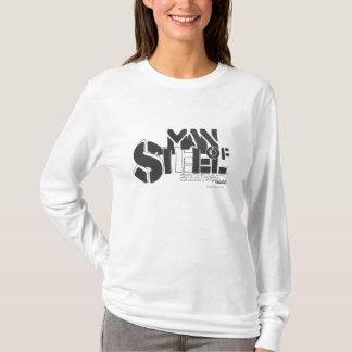Superman Stylized | Man Of Steel Letters Logo T-Shirt