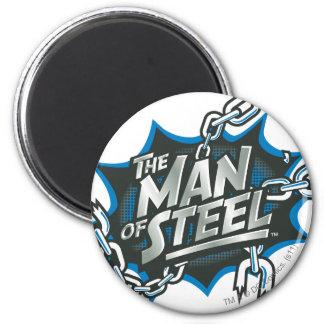 Superman Stylized | Man of Steel Splash Logo 2 Inch Round Magnet